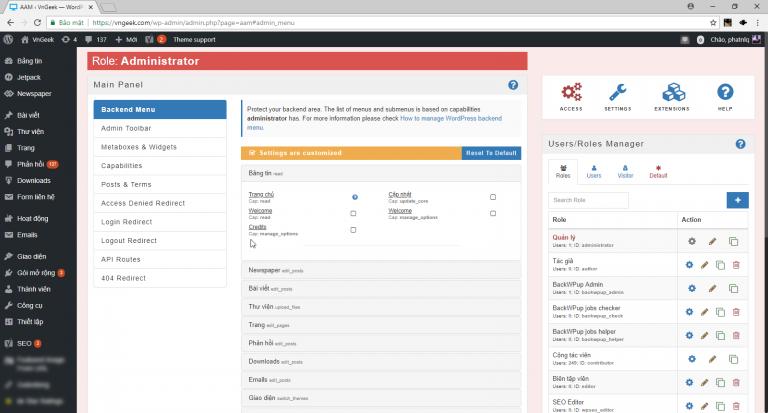 Advanced Access Manager: Plugin quản lý người dùng chuyên nghiệp miễn phí cho WordPress
