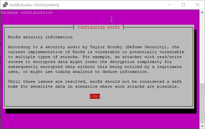 Mã hóa thư mục và tập tin trên Ubuntu Server với EncFS
