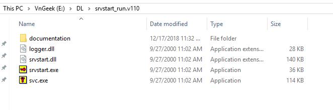 Chạy chương trình như một Windows Service với Srvstart (tự động chạy cùng Windows dưới dạng một dịch vụ)