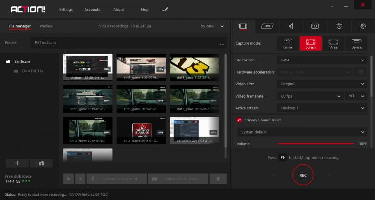 Action!: Phần mềm quay màn hình trò chơi tốt như OBS Studio
