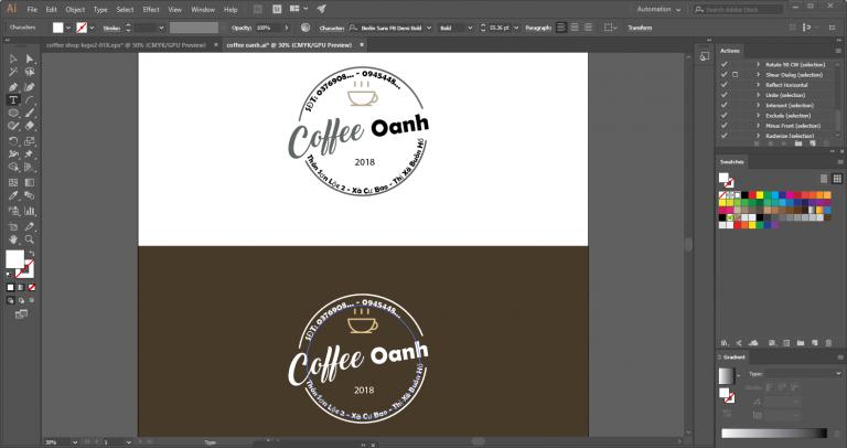 Template Logo cho quán cà phê (miễn phí tải về)