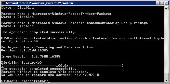 Vô hiệu hóa Internet Explorer trên Windows Server 2008