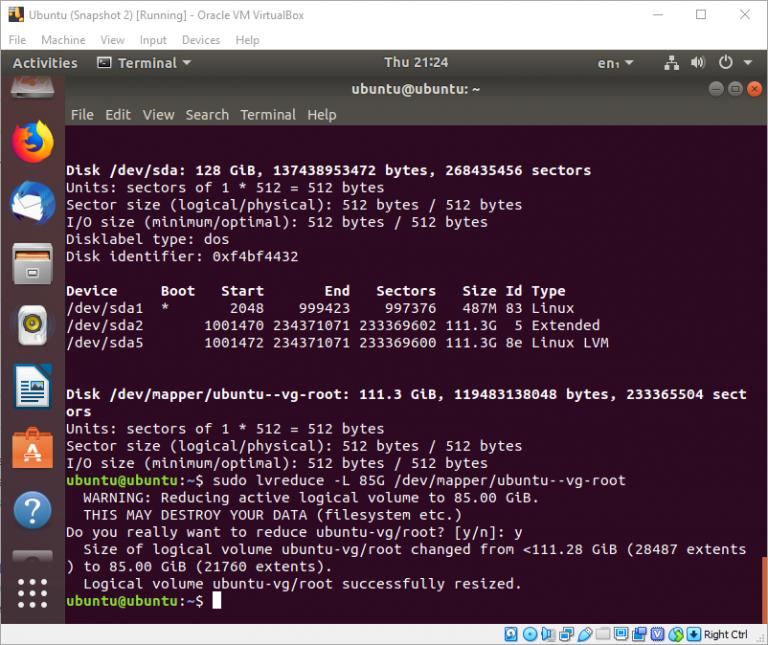 Thay đổi kích thước phân vùng ổ đĩa trên HĐH Ubuntu với Gparted hoặc LVM
